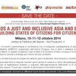 10° Forum della Società Civile Asia-Europa – Milano, 10-12 ottobre
