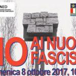 Domenica 8 ottobre: OGGI COME ALLORA, E' SEMPRE TEMPO DI ANTIFASCISMO!